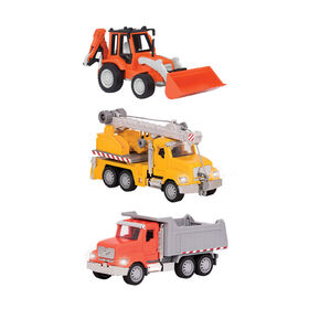 Ensemble de petits véhicules de construction, Mini-véhicules de construction (3 pcs), Driven