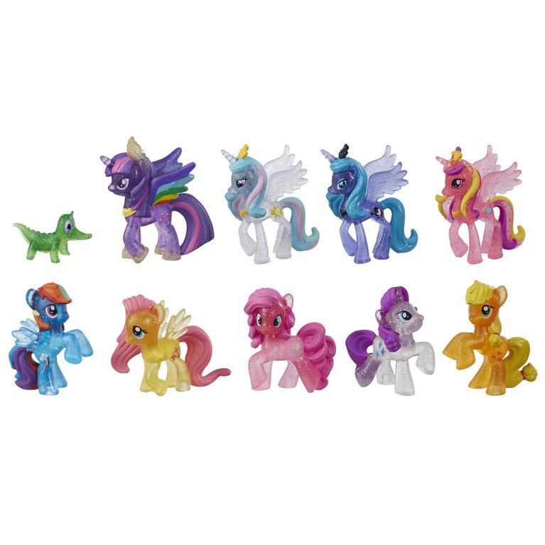 My Little Pony, Collection Voyage arc-en-ciel, emballage de 10 figurines scintillantes - R Exclusif - R Exclusif