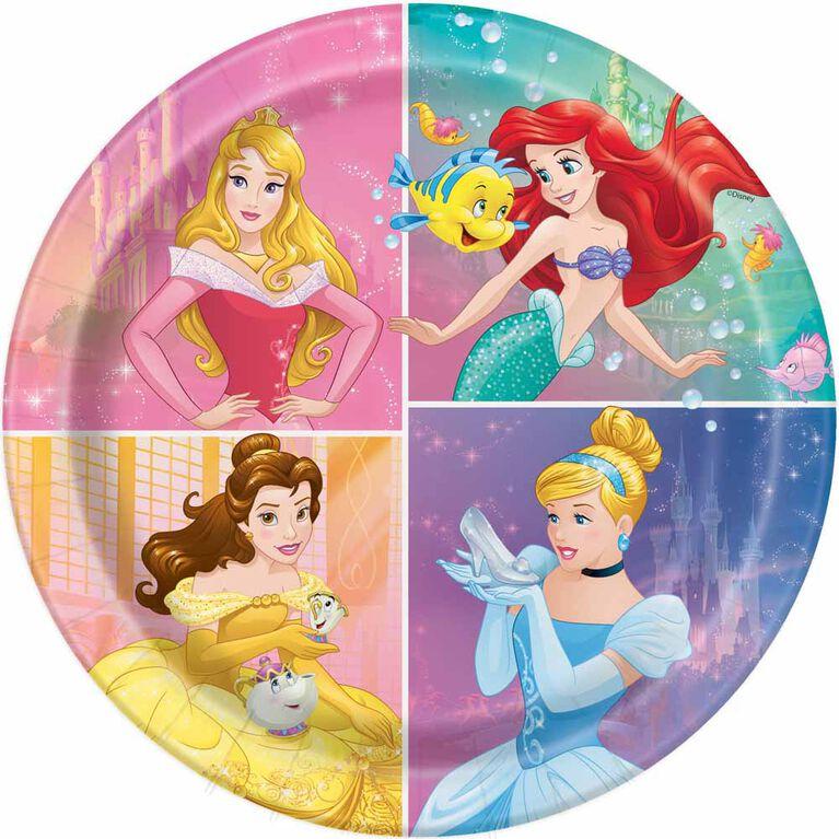 "Princess  9""  Plates, 8 pieces"