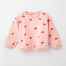 sweet slouchy sweatshirt , 2-3y - light pink print