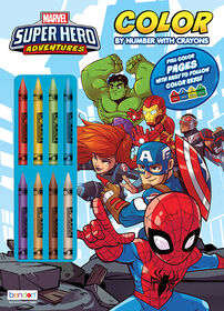 Superhero Color By Number - English Edition