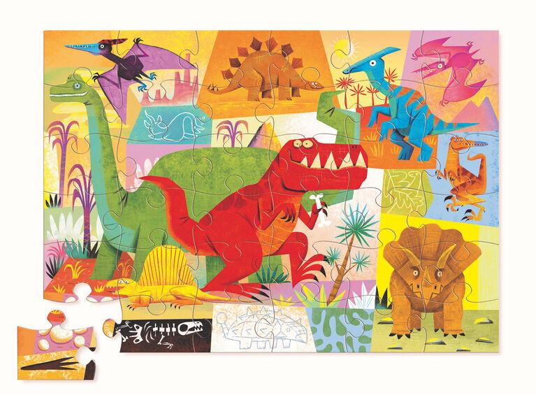Dinosaur Shaped Puzzle 36 Pieces