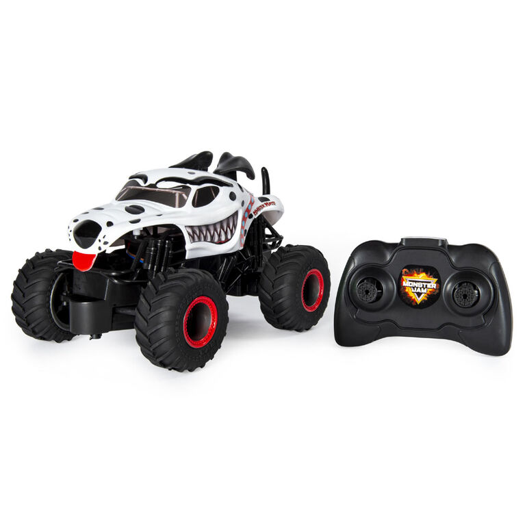 Monster Jam, Monster Mutt Dalmatian radiocommandé authentique, échelle 1:24, 2,4 GHz.