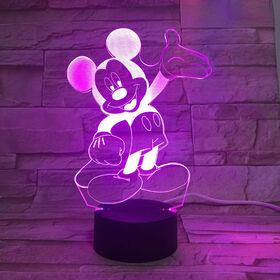 Veilleuse DEL 3D Disney Souris Mickey
