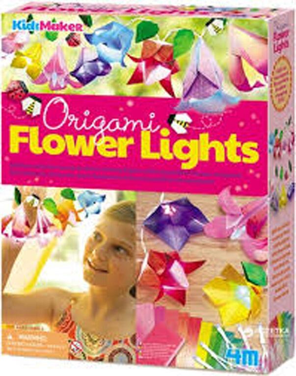 Fleurs lumineuses en origami.