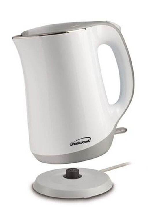 Brentwood Cool Touch 1.7L Stainless Kettle, White