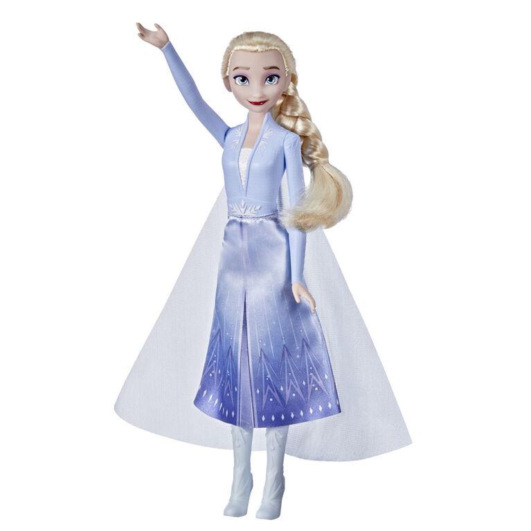 Disney's Frozen 2 Elsa Frozen Shimmer Fashion Doll, Skirt, Shoes, and Long Blonde Hair