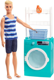 Barbie Ken Doll and Laundry Room Playset