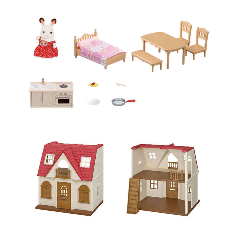 Calico Critters - Red Roof Cozy Cottage Starter Home