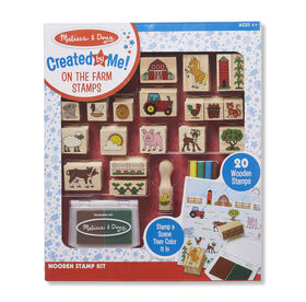 Melissa & Doug Created by Me! Wooden On the Farm Stamp Kit