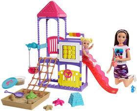 Barbie Skipper Babysitters Inc. Climb 'n Explore Playground Dolls & Playset