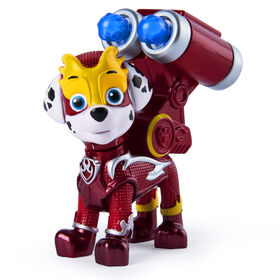 PAW Patrol, Mighty Pups Super PAWs, Figurine Marcus avec sac à dos transformable