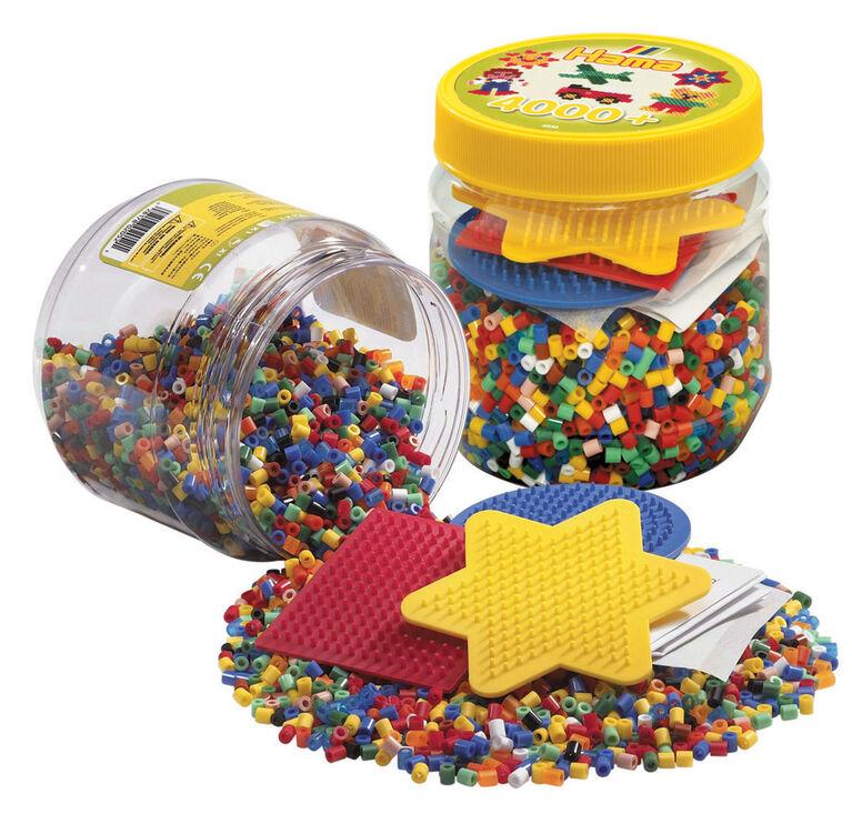 4000  Perles et plaques en pot