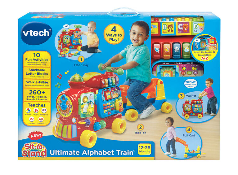 Sit-to-Stand Ultimate Alphabet Train - English Edition