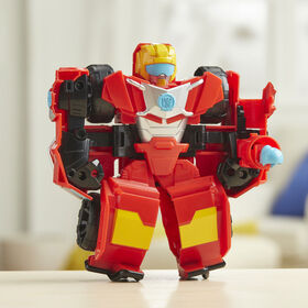 Playskool Heroes - Transformers Rescue Bots Academy Hot Shot Converting Toy Robot, 6-Inch Collectible Action Figure
