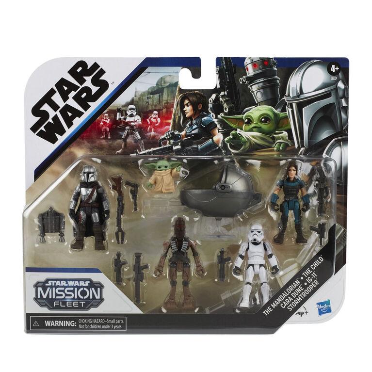 Star Wars Mission Fleet, Défends L'Enfant, 5 figurines de 6 cm avec accessoires