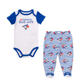 Snugabye - MLB - Bodysuit With Pant Set - 0-3 Months