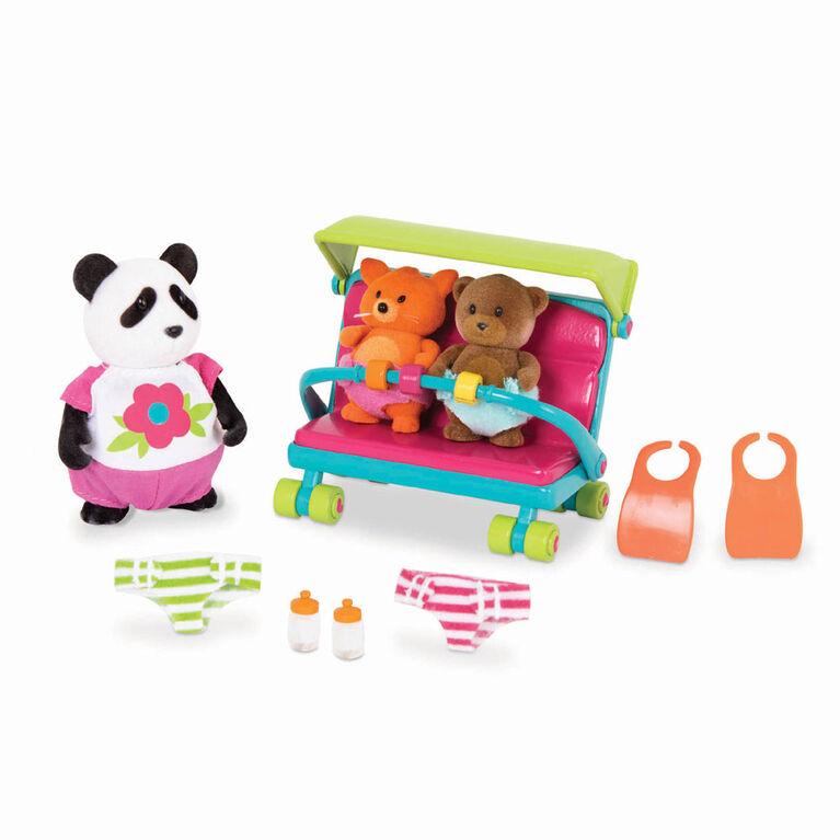 Li'l Woodzeez, Babysitter Playset with Animal Characters - styles may vary