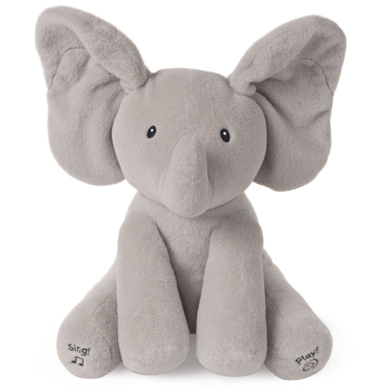 "Baby GUND Animated Flappy the Elephant Stuffed Animal Plush, Gray, 12"" - French Edition"