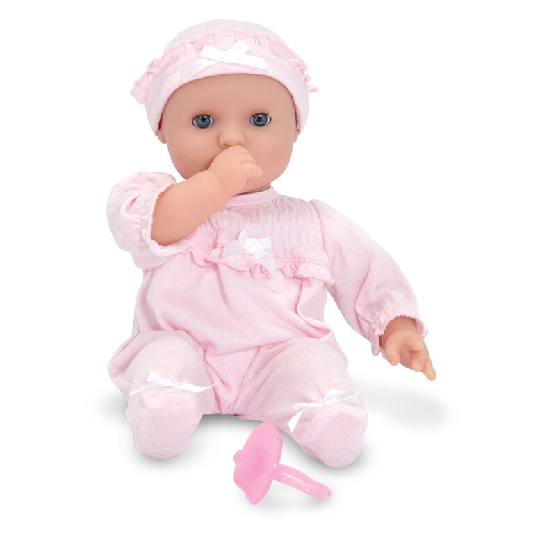 "Melissa & Doug - Mine to Love Jenna 12"" Soft Body Baby Doll With Romper, Hat - English Edition"