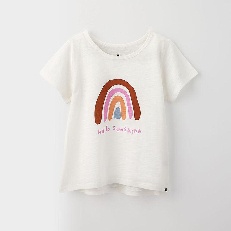 3-4 ans t-shirt imprimé à manches courtes - imprimé blanc
