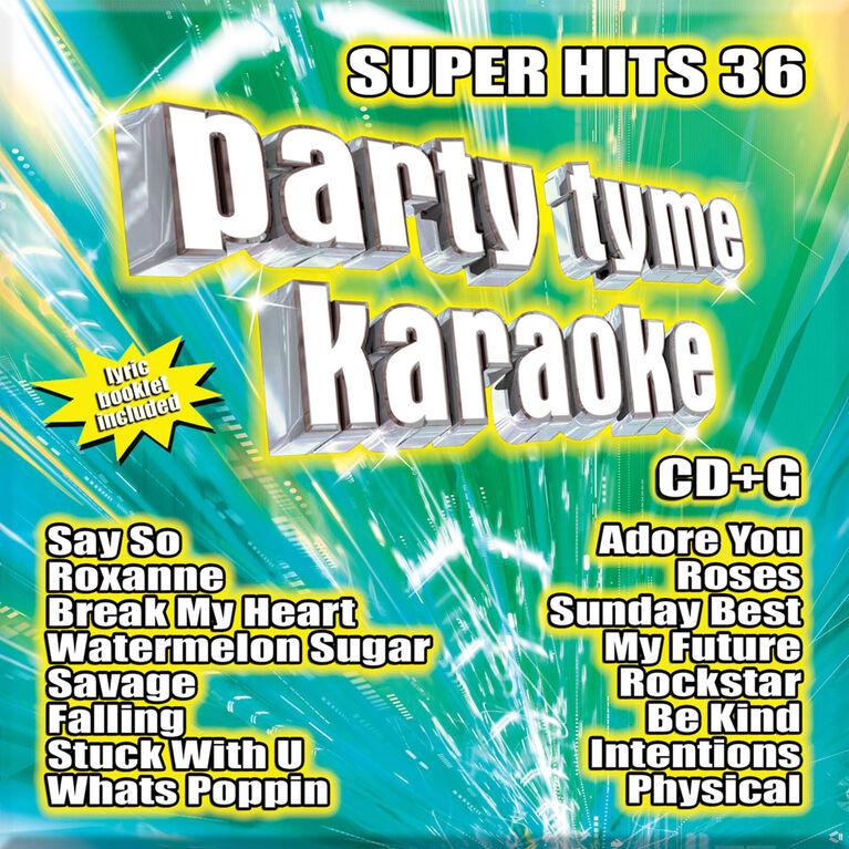 Party Tyme Karaoke - Super Hits 36 - Édition anglaise