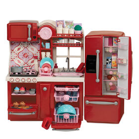 Our Generation, Gourmet Kitchen Set for 18-inch Dolls - Red