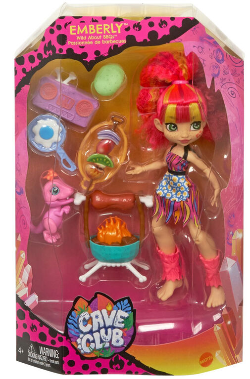Cave Club Wild About BBQs Playset + Emberly Doll