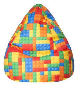 Gouchee Design - Beanbag Bricks Fauteuil Poire Impression Numérique Briques XL