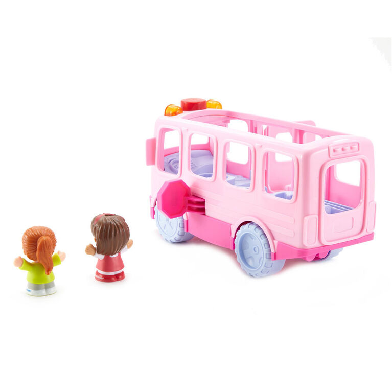 Fisher-Price Little People Sit With Me School Bus - Pink - English Edition