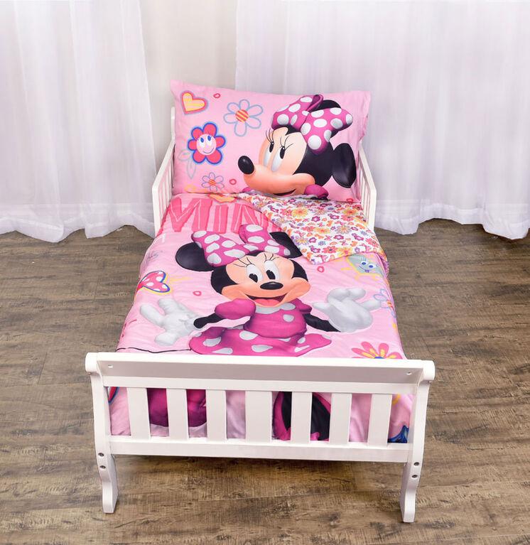 disney minnie mouse 3piece toddler bedding set  toys r