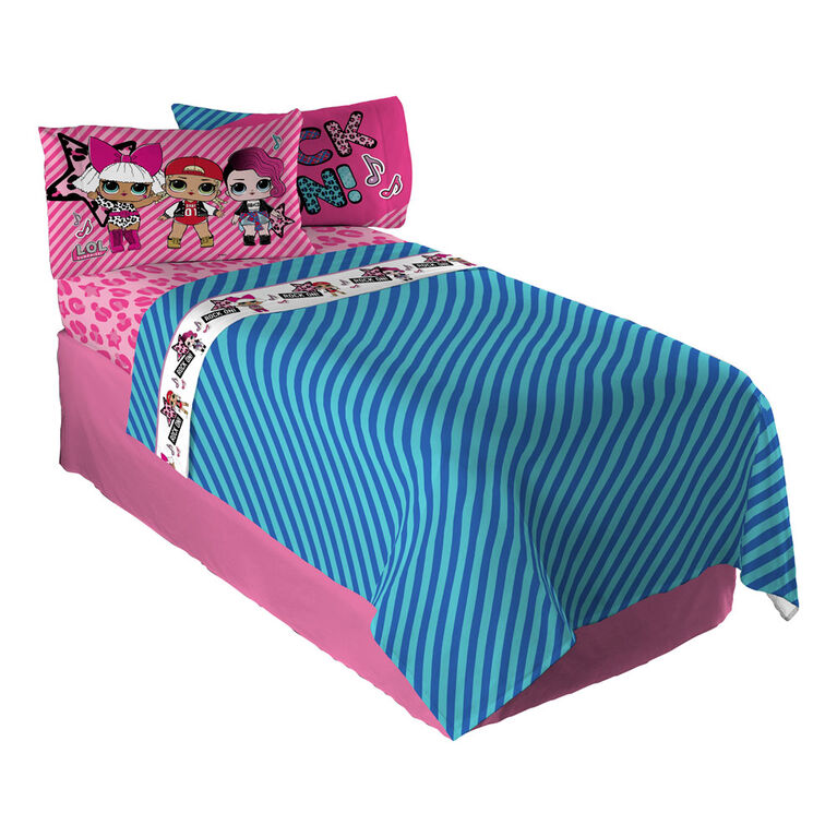 "L.O.L Surprise! ""LOL Rock"" Kids' Bedding Twin Sheet Set"