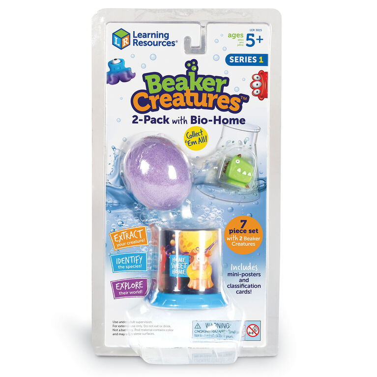 Jeu paquet de 2 Beaker Creatures avec maison bio de Learning Resources