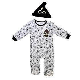 Warner's Harry Potter Sleeper with hat - Grey, Newborn-0 Months