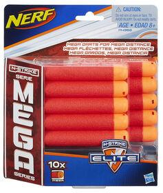 NERF N-Strike Série Mega - Recharge de 10 fléchettes