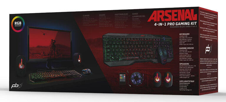 Packard Bell ARSENAL Ultimate 4-in-1 Gaming Kit