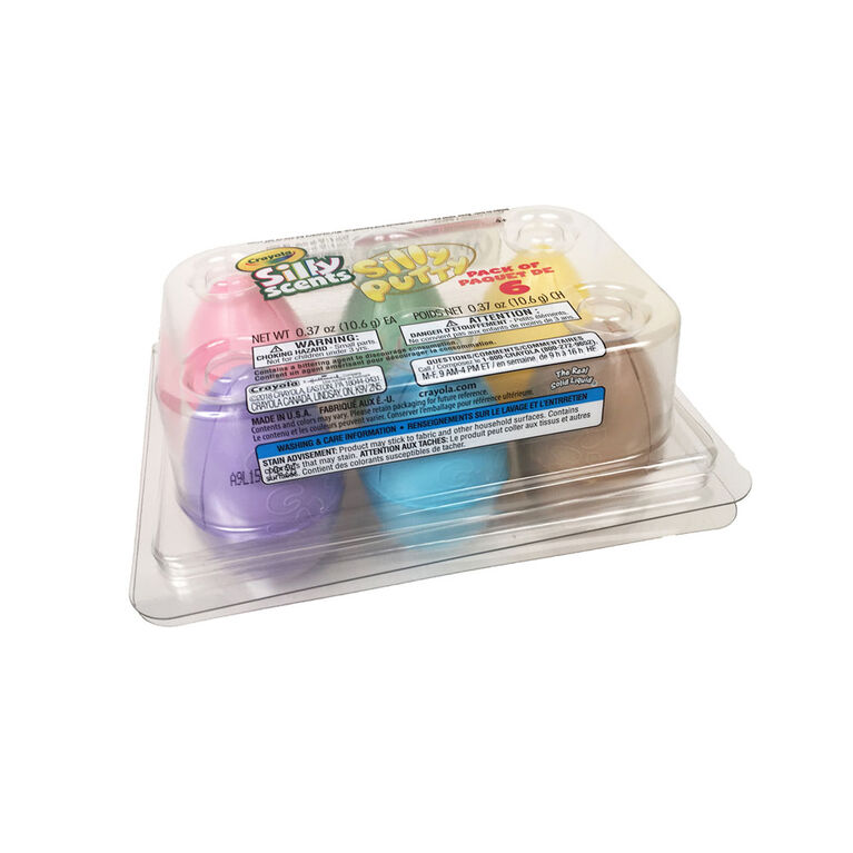 Carton de 6 oeufs Silly Putty Silly Scents Crayola