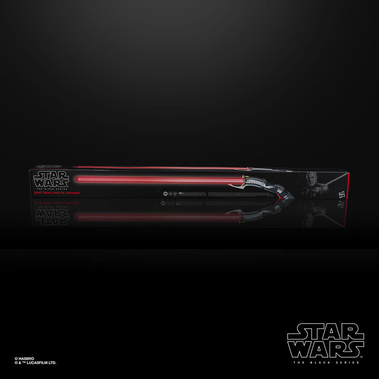 Star Wars The Black Series Count Dooku Force FX Lightsaber with LEDs and Sound Effects, Collectible Roleplay Item