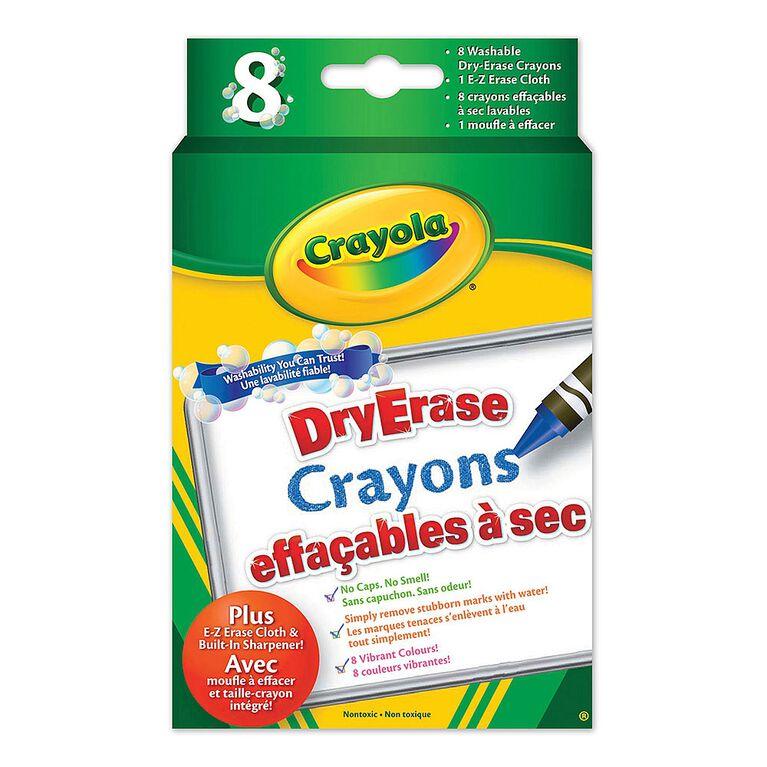 Crayons - Crayons de cire effaçables à sec lavables de Crayola - 8ct