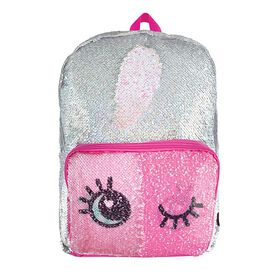 S. Lab Magic Sequin Backpack-Silver Holo & Reveal