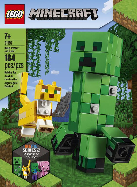 LEGO Minecraft BigFig Creeper and Ocelot 21156