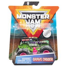 Monster Jam, Official Grave Digger Monster Truck, Die-Cast Vehicle, Danger Divas Series, 1:64 Scale