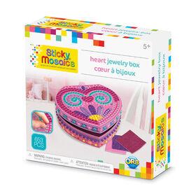 Sticky Mosaics® Coeur à bijoux.