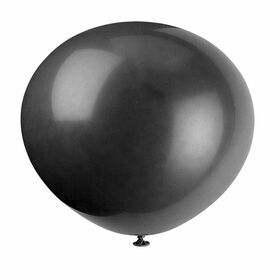 "12"" Latex Balloons, 10 pieces - Jet Black"