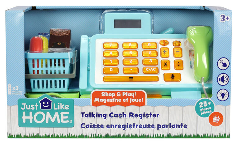 Just Like Home - Talking Cash Register - Blue - English Edition
