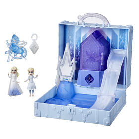 Disney's Frozen 2 Pop Adventures Ahtohallan Adventures Pop-Up Playset With Handle, Including 2 Elsa Dolls