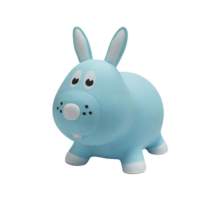 Farm Hoppers Special Edition Inflatable Bouncer - Blue Rabbit