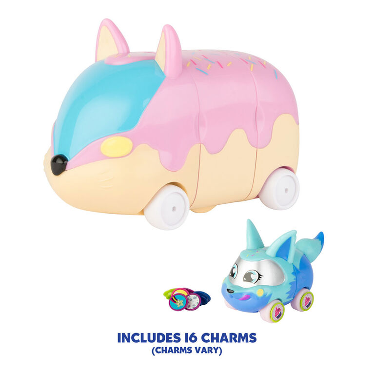 Ritzy Rollerz Toy Cars with Surprise Charms, Sprinklez on Wheelz Donut Shop Playset with Donut Dani