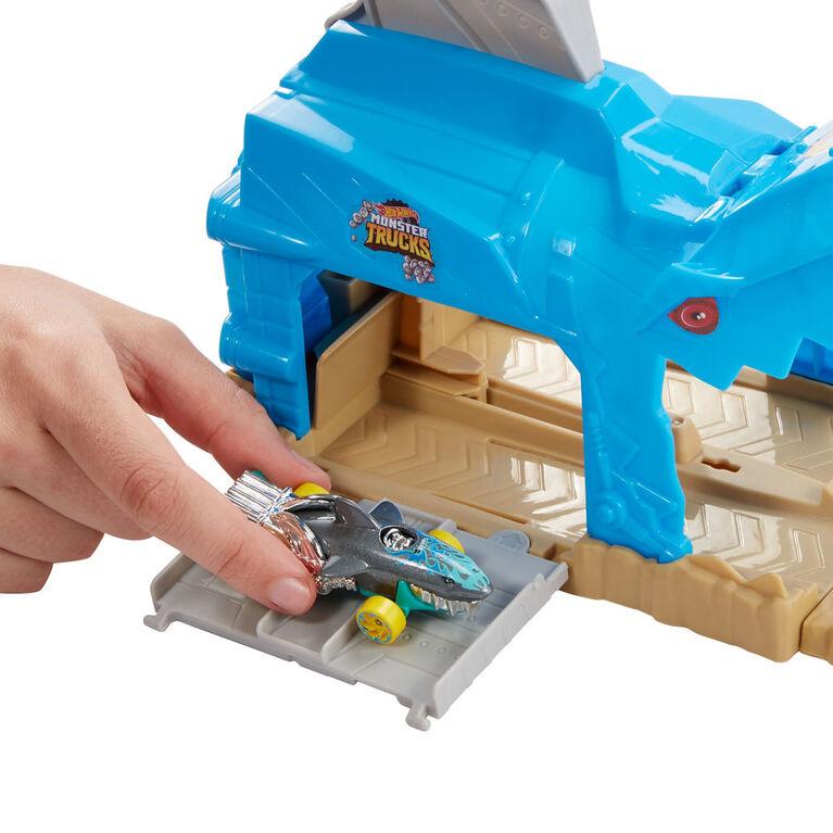Hot Wheels - Monster Trucks - Coffret de jeu Puits et lancement - Shark Wreak