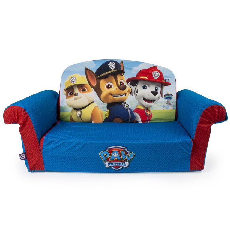 Nickelodeon Paw Patrol Children's Upholstered 2 in 1 Flip Open Sofa - Exclusive